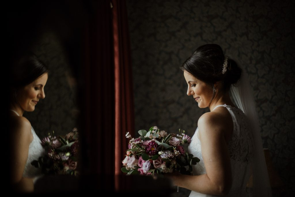 bride during her morning prep | by darren byrne photography